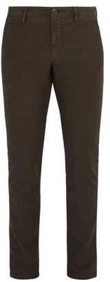 Incotex Slim Fit Cotton Blend Chino Trousers - Mens - Dark Brown