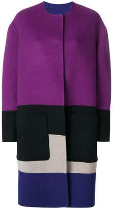 Bottega Veneta reversible colour block coat
