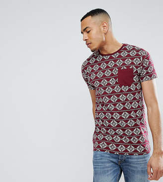 Brave Soul TALL All Over Geo-Tribal Print T-Shirt