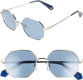 4b2bdc403fc Polaroid 53mm Geometric Polarized Sunglasses