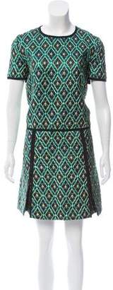 Burberry Pleated Brocade Dress w/ Tags