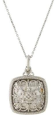 Co Gabriel & Diamond Filigree Cushion Pendant Necklace