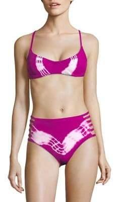 Entreaguas Crochet-Back Underwire Bikini Top