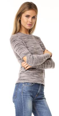 Raquel Allegra Slit Elbow Crew Sweater $395 thestylecure.com