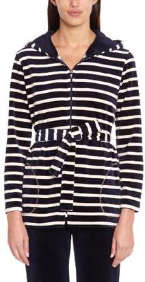 Le Chat Women's Weekend 470 Trench Striped Jacket - - (Brand size: 40)