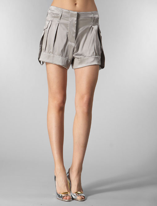 Fm Silk Square Short in Grey