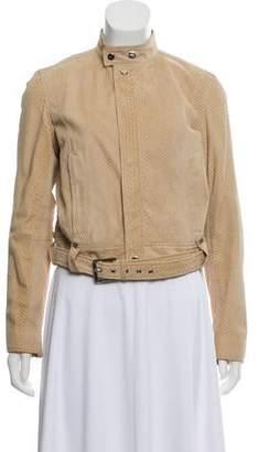Ralph Lauren Black Label Python Leather Jacket w/ Tags