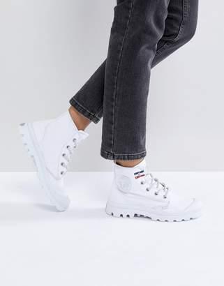 Palladium Pampa White Hi Rive Gauche Flat Ankle Boots
