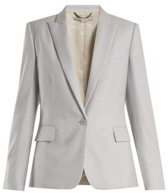Stella McCartney Ingrid Single Breasted Wool Jacket - Womens - Light Blue