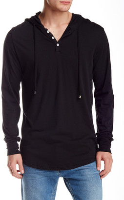 Spenglish Pima Hooded Henley $80 thestylecure.com