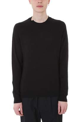 Mauro Grifoni Black Cotton And Line Knit