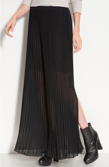 Trouvé Pleated Maxi Skirt