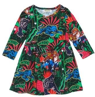 Kenzo Print Fit & Flare Dress