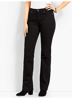 Talbots High Rise Barely Boot Jeans-Curvy Fit/Black