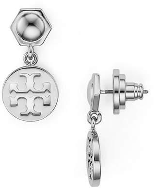 Tory Burch Hexagonal & Logo Circle Drop Earrings