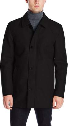 Vince Camuto Men's Melton Car Coat with Removable Quilted Bib
