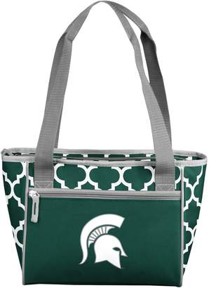 NCAA Logo Brand Michigan State Spartans 16-Can Quatrefoil Cooler Tote