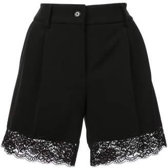 Moschino lace trimmed shorts