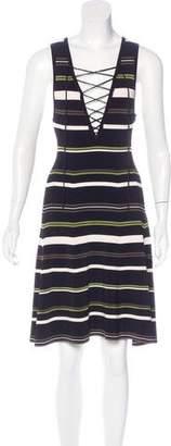 Ronny Kobo Stripe A-Line Dress