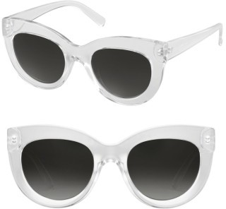 Women's Perverse Repost Cat Eye Sunglasses - Clear/ Black $40 thestylecure.com