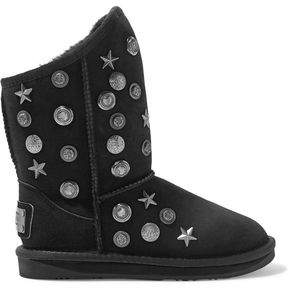 Australia Luxe Collective Angel Short Embellished Shearling Ankle Boots