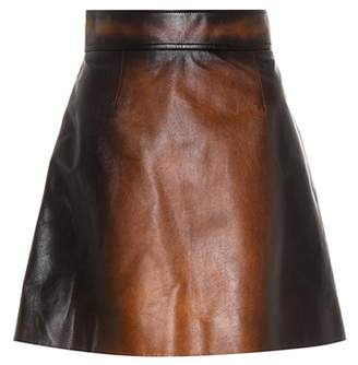Miu Miu Leather miniskirt
