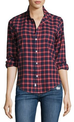 Frank & Eileen Barry Plaid Oxford Shirt, Red/Blue $198 thestylecure.com