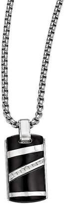 Black Diamond FINE JEWELRY Edward Mirell Black Ti Mens 1/6 CT. T.W. Genuine Stainless Steel Titanium Pendant Necklace