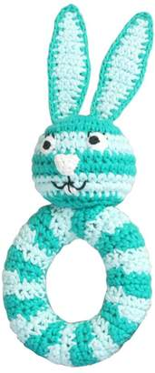 Sindibaba Hand Crocheted Bunny Rattle with Ring Shaped Slim Body (Small
