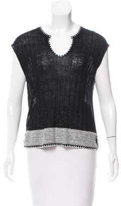 White + Warren Sleeveless Rib Knit Top