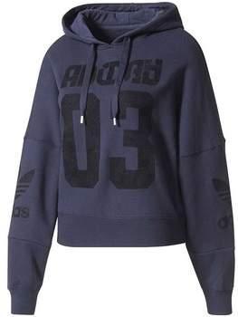 Sweatshirt Originals Hoodie Damen Sweatshirt Blau Baumwolle