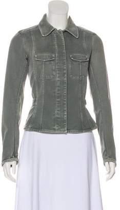Prada Sport Denim Long Sleeve Jacket