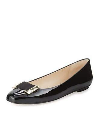 Delman Froth Patent Buckle Flat, Black $228 thestylecure.com
