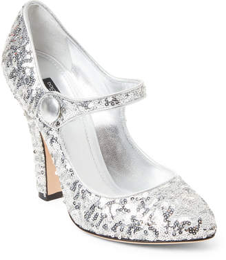 Dolce & Gabbana Silver Sequin Mary Jane Pumps