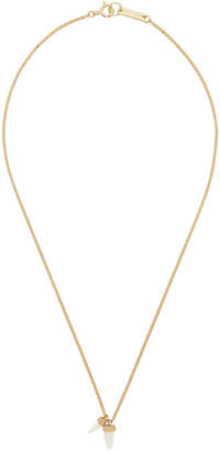 Isabel Marant Gold Horn Pendant Necklace
