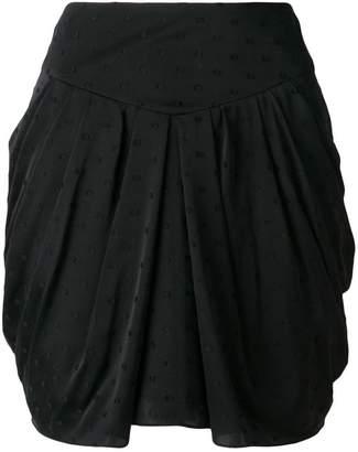 Saint Laurent Fil Coupé draped mini skirt