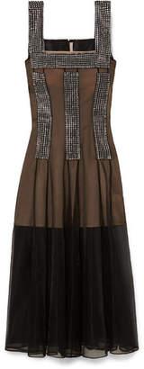 Christopher Kane Crystal-embellished Tulle Dress - Black