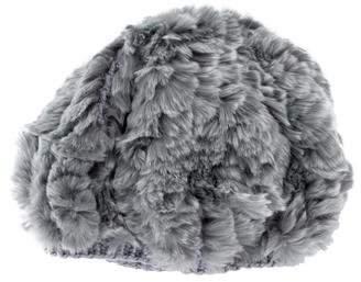 Helen Kaminski Fur-Trimmed Knit Beret