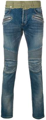 Balmain biker skinny jeans