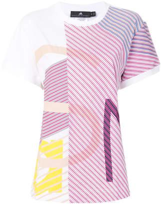 adidas by Stella McCartney multi-stripe oversized T-shirt