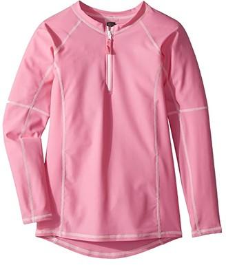 Toobydoo Pink Rashguard w/ Long Sleeves (Infant/Toddler/Little Kids/Big Kids)