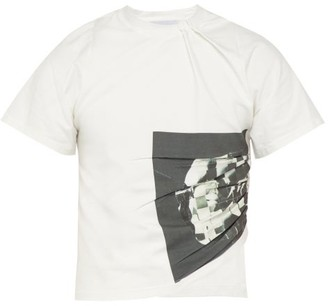 Bianca Saunders - X Troy Michie Cropped T Shirt - Mens - Black White