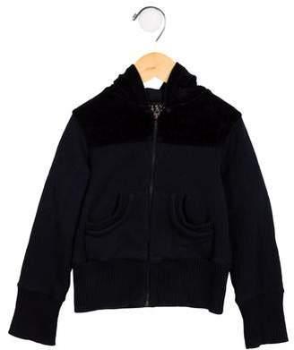 Elsy Girls' Hooded Zip-Up Sweatshirt