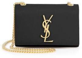 SAINT LAURENT Small Kate Monogram Leather Chain Shoulder Bag