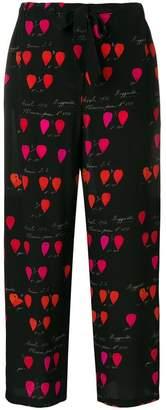 Alexander McQueen petal print trousers