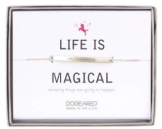 Dogeared Sterling Silver Life is Magical 'New Beginnings' ID Bar Bracelet