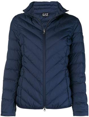 Emporio Armani Ea7 zipped puffer jacket