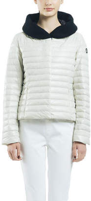 Snowman New York Journal Wool Collar Down Jacket