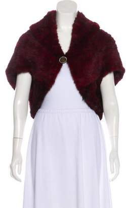 Fur Knit Mink Shrug
