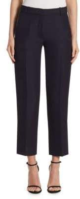 Victoria Beckham Cropped Wool-Blend Trousers